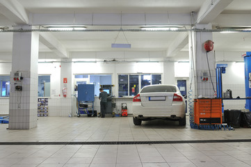 Auto repair service - a series of MECHANIC images.