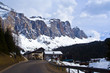Dolomite mountains, Sella pass