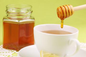 Honey tea with lemon