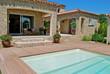 Leinwandbild Motiv terrasse piscine