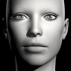 3D woman portrait
