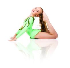 Little ballet dancer isolated