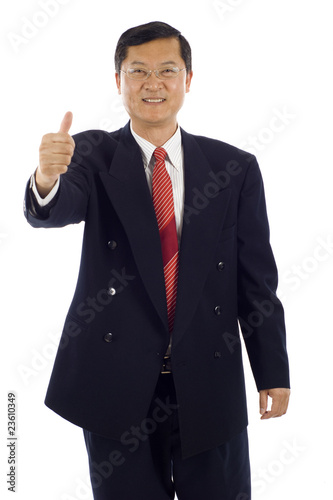 Senior Asian Business Man -Thumbs up!