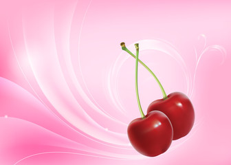 Abstract cherry background