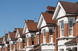 Row of Typical English Terraced Houses at London.