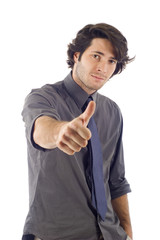 business man giving a thumbs up!