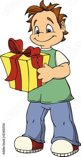 Junge, Geburtstag, Geschenk, Kind, Weihnachten