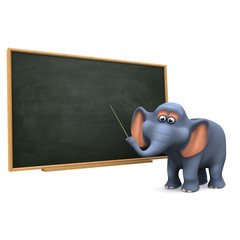 3d Elephant utilises the blackboard