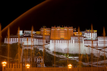 Potala Palace Night Water Streams