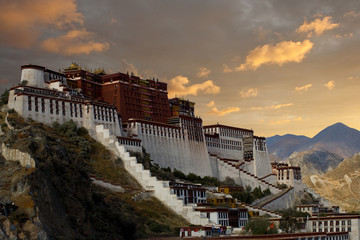 Potala Palace Angled Sunset
