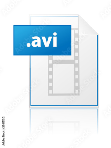 AVI icon (video clip mpg mpeg file format extension type vector)