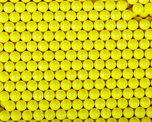 Yellow balls background