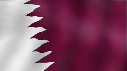 Qatar - waving flag detail