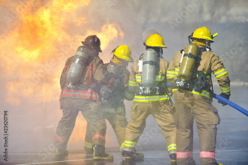 Foto op Canvas Vuur / Vlam Fire training exercise
