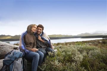 Couple on a hiking trip
