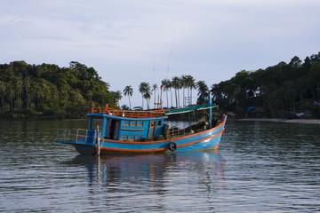 Boat in sea .Thailand .