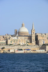 Valletta old town in Malta, the Mediterranean