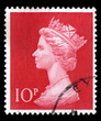 Queen Elizabeth II, ten pence, Great Britain postage stamp