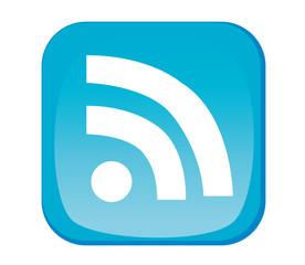 RSS Feed Button in Blau