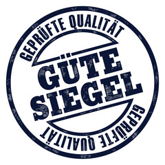 stempel button gütesiegel