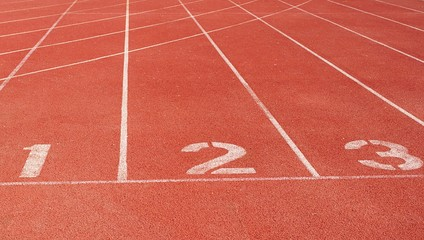 Running track starting line