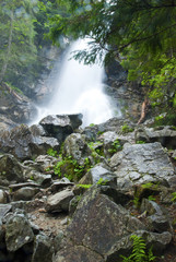 waterfall in Tatra National Park, Slovakia