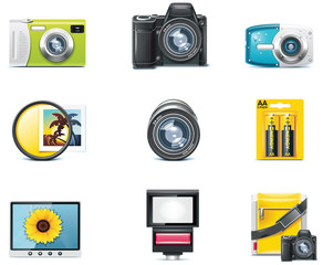 Vector photography icons. Part 1