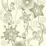 Graphic floral pattern