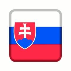 animation bouton drapeau slovaquie