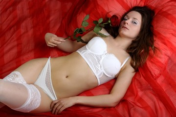 Eve - Dessous mit Rose