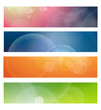 Banners, headers abstract vector