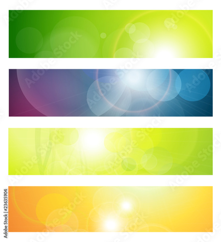 Banners, headers abstract lights