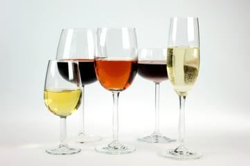 bicchieri di vino pregiati