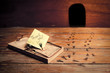 activated mousetrap with funny message from rat