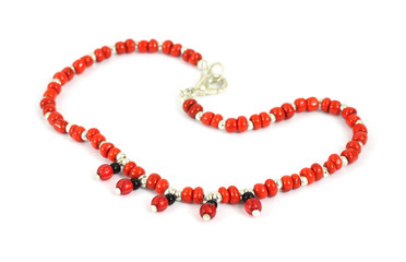 Costume jewelry red bead bracelet