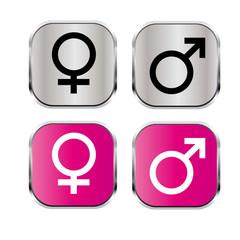 Man Frau Icon Set