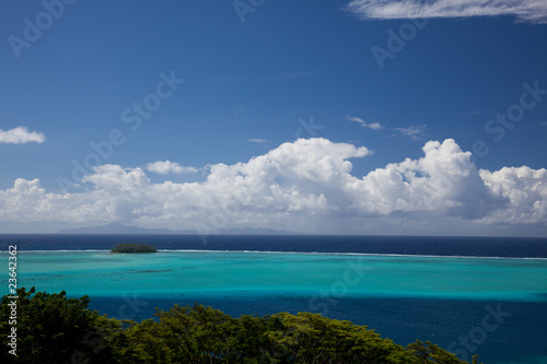 Motu in South Seas Lagoon, French Polynesia