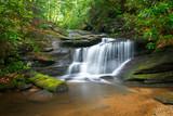 Waterfalls Peaceful Nature Landscape in Blue Ridge Mountains