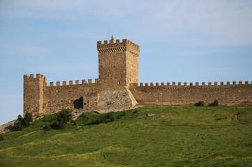 Genoese medieval fortress in Sudak, Crimea