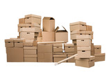 Brown different cardboard boxes - 23646980