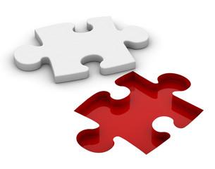 Piesa de Puzzle blanco
