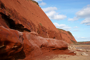 Exmouth cliffs and beach