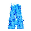 Water smoking letter A