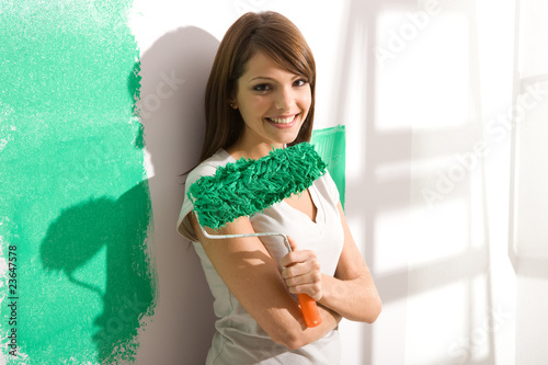 Girl with a paintbrush portrait