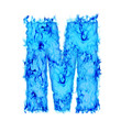 Water smoking letter M