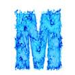 Water smoking letter M
