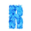 Water smoking letter R