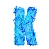 Water smoking letter K