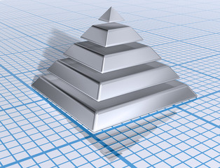 Silver Layered Pyramid