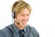 Hotline operator mit Headset